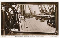 POSTCARD  SHIPS  NELSON  VICTORY Quarter Deck