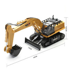 RC Remote Controlled Metal Excavator Truck JCB Digger Bulldozer Construction Toy