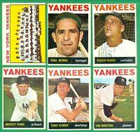 1964 TOPPS NEW YORK YANKEES TEAM SET -1  VG/EX-EX   FORD  MARIS  YOGI BERRA