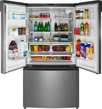 Insignia™ - 26.6 Cu. Ft. French Door Refrigerator - Stainless steel