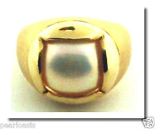 Unique 14MM Mabe Pearl Ring 14K Yellow Gold Size 7.5, Weight 13 Grams, NEW