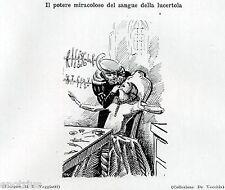 DENTISTA: SANGUE DI LUCERTOLE CONTRO MAL DI DENTI.Dentiste.Dentist.Zahnarzt.1929