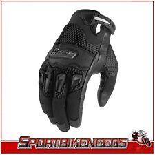 Icon Twenty-Niner Black Leather Gloves New Large LG