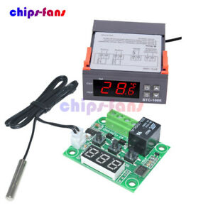 Digital 220V STC-1000 Temperature Controller Thermostat Regulator With Sensor