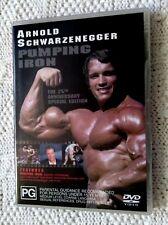 PUMPING IRON – ARNOLD SCHWARZENEGGER- DVD  (DVD, 2004) R-4, LIKE NEW, FREE POST