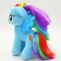 My Little Pony Plush Dolls Applejack Rainbow Dash Fluttershy Stuffed Soft Toy