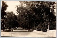 Warsaw NY West on Buffalo St Street View EKC Vintage RPPC Real Photo Postcard C4