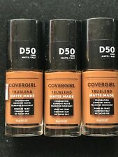 Covergirl Trublend Matte Made Foundation (Lot Of 3) D50 Deep Golden