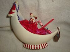 Collectible Dept 56 Santa On Moon Bowl #015