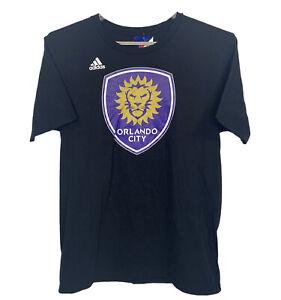 MLS Orlando City Men's Adidas Black Go-To Tee 100% Cotton Short Sleeve Large