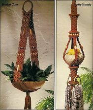 Plant Hanger Patterns - Craft Book: #7457 Kitchen Knottery