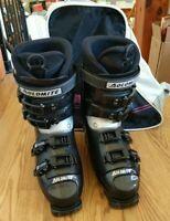 Dolomite FX 1 Sport Downhill Ski Boots Womens Size 9 w/ Boot Bag