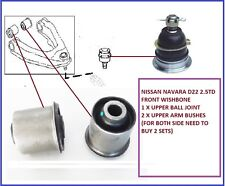 Navara D22 Pick Up 2.5TD Front Upper Wishbone Arm Ball Joint & Bushes 1998-2005