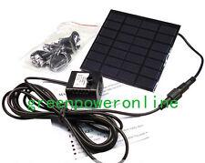 1.2W 7V Solar Power Pond Oxygenator Air Pump Oxygen Pool Fishpond Fish NEW G