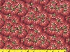 Red Heirloom Tomatoes Quilting & Sewing Fabric by Yard #684 Note Description