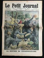 Le petit Journal illustré 22/08/1915; La rentrée du permissionnaire/ Sibérie