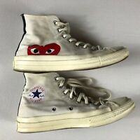 Converse x Comme Des Garcons Play Chuck Taylor 70s Hi Mens 8 Shoes Womens 10