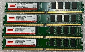 16GB (4X4GB) PC4-21300 DDR4-2666MHz VLP 288PIN UDIMM 1.2V ECC Server Memory