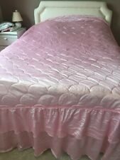 PINK  QUILTED BEDSPREAD