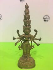 Antique Eleven Headed Bodhisatta Avalokiteshvara Buddhist Tibet Art Sculpture