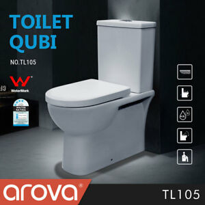 Toilet Suite Back to Wall Faced Ceramic Soft Close Square S P Trap Dual Flush