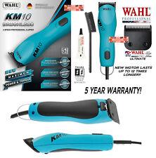 Wahl Pro KM10 BLUE 2-Speed ULTIMATE Clipper KIT&10 Blade Set KM*PET DOG GROOMING