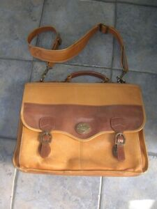 Vintage LAND SANTA FE Quality LEATHER Brief Case Shoulder Man-bag Goodwood vgc