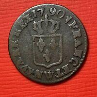 #1140 - Louis XVI Liard 1790 W Lille TB+/TTB R - FACTURE