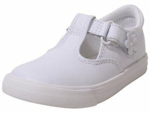 Keds Toddler/Little Girl's Daphne Mary Janes Flats Sneakers Memory Foam White