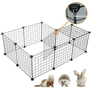 Pet Playpen foldable Iron Fence puppy Kennel House Training