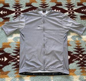 Men's Ornot Cycling Jersey Size 2XL XXL Short Sleeve Gray Black
