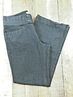 Banana Republic Martin Fit Women's Dark Gray Flare Pants Size 6S 28x27.5