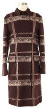 NWT $6254 Authentic Valentino Burgundy Wool & Cashmere Lace Overcoat Coat Jacket