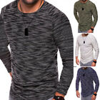 hommes décontracté manches longues col rond Mode Pull tricot tricot pull pulls