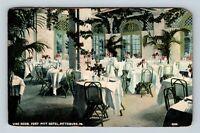 Pittsburgh PA Fort Pitt Hotel Vine Room Dining Vintage Pennsylvania Postcard