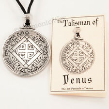 TALISMAN of VENUS Magic Pentacle Solomon Seal Pendant Necklace Love Jewelry