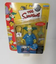 PLAYMATES THE SIMPSONS WORLD OF SPRINGFIELD BUSTED KRUSTY THE CLOWN NEW ON CARD