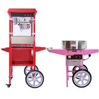 Machine à Barbe à Papa & Machine à Popcorn Chariot Fête Anniversaire Marriage