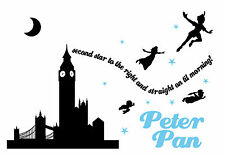 Peter Pan - Typography quote Decorative Vinyl Wall Sticker