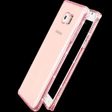 New Ultra-Thin Crystal Diamond Bling Gel Soft TPU Clear Phone Case Protect Cover