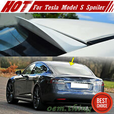 Unpaint For Tesla Model S Sedan K-Style Window Roof Spoiler 2017 New 90D 70D