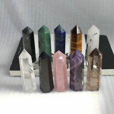 60-70MM Natural Quartz Crystal Point Healing Obelisk Hexagonal Wand Reiki Stone