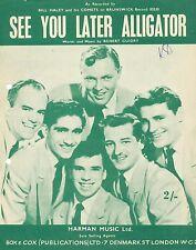 See You Later Alligator-Bill Haley e il suo Comete - 1956 SPARTITI MUSICALI