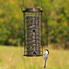 Squirrel Bird Seed Hanging Feeder Proof Stumper Wild Bird Metal Twist Lock Top