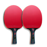 HUIESON 5 Star 2Pcs Carbon Table Tennis Racket Set Long Handle Ping Pong Paddles