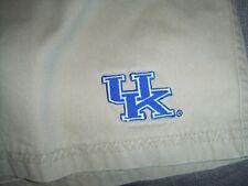 NCAA Men's Sz XL 40-42  UK University Of Kentucky Wildcats Khaki Bermuda Shorts