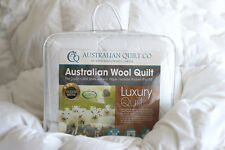 Quilt Wool Single Australian Washable 300gsm Duvet/Doona 3 Blanket SB/DB/QB/KB