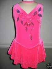 NEW Custom Pink Ice Skating Lyrical Dance Competition Dress Costume CS 4 5 6