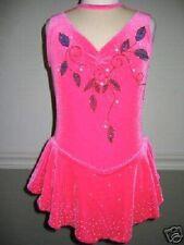 NEW Custom Pink Ice Skating Lyrical Dance Competition Dress Costume CS 4 5 6