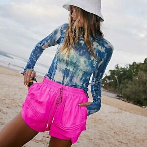 Free People Movement Hot Pink Check It Out Shorts